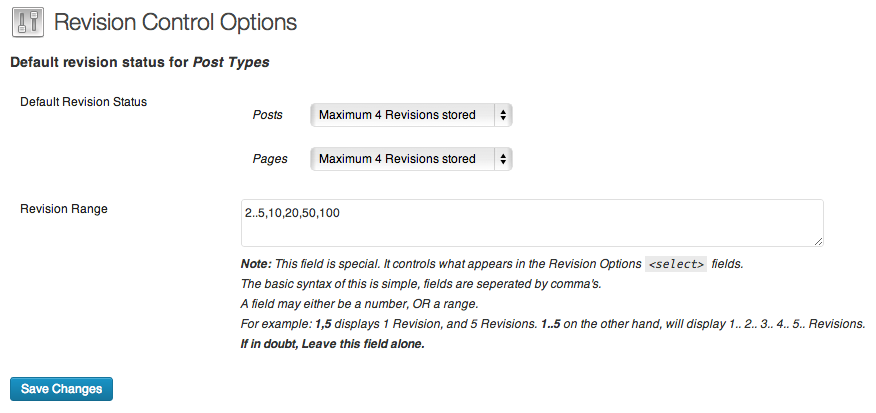 Revisions plugin WordPress